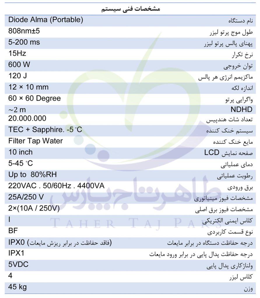 قیمت خرید و فروش دستگاه لیزر دایود آلما