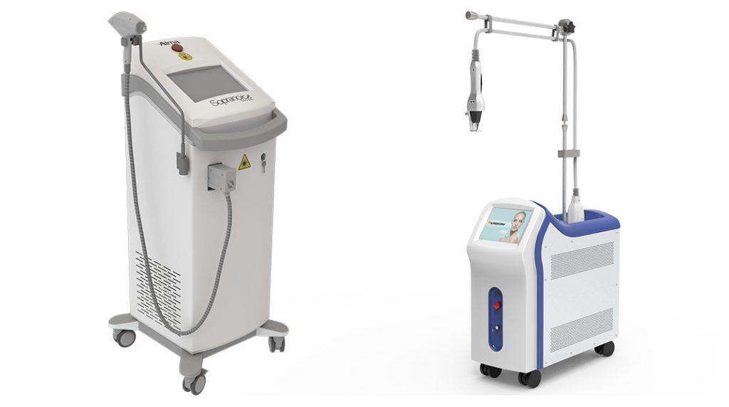 مقایسه عملکرد دستگاه لیزر دایود و الکساندرایت